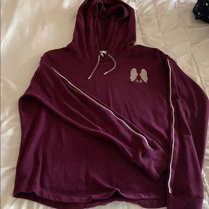 Victoria's Secret maroon hoodie
